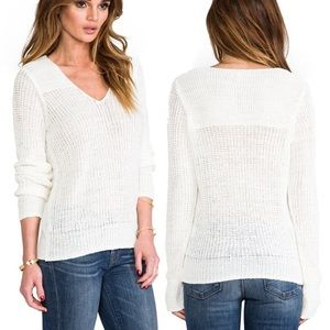 Joie FLANNA knitted cream colored sweater